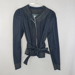BCBG Max Azria medium tie front jean jacket